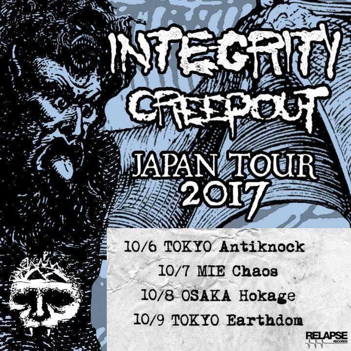 INTEGRITY / CREEPOUT JAPAN TOUR 2017 /