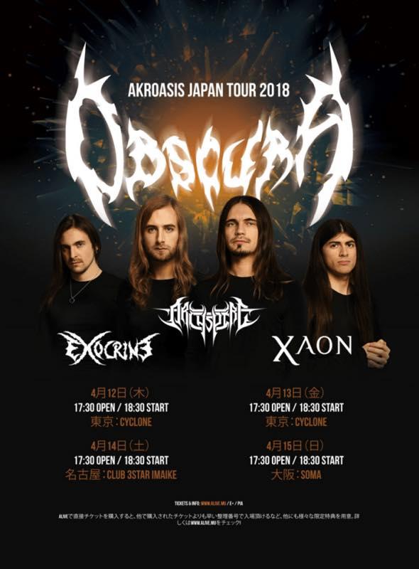 "OBSCURA ""AKROASIS"" JAPAN TOUR 2018 /"