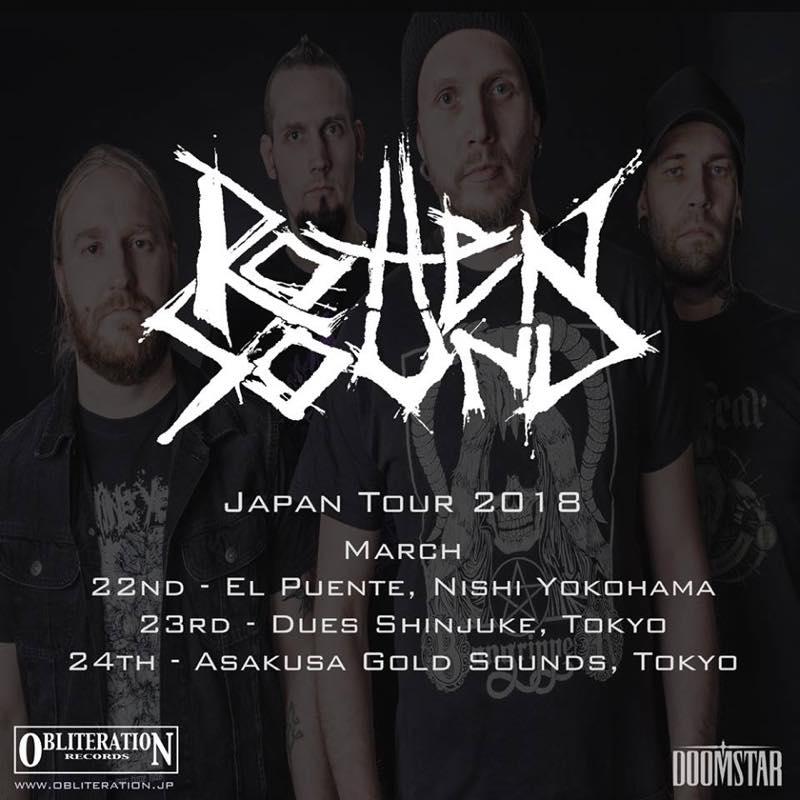 ROTTEN SOUND Japan tour 2018 /