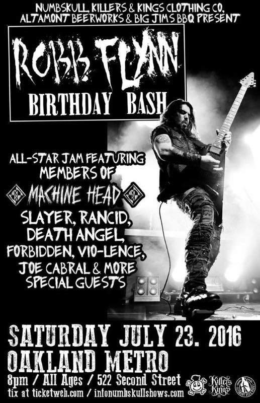 MACHINE HEAD - Robb Flynn's Birthday Bash