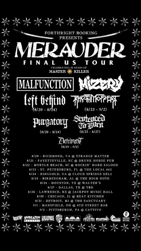 MERAUDER FINAL US TOUR