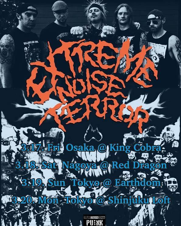 EXTREME NOISE TERROR JAPAN TOUR 2017
