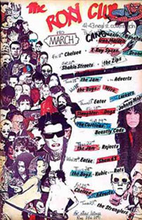 ROXY CLUBのチラシ(1977年3月)