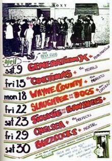 ROXY CLUBのチラシ(1977年4月)