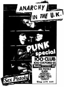 100CLUB PUNK SPECIAL POSTER