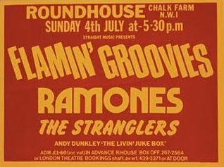 ROUNDHOUSE 1976年7月4日のポスター