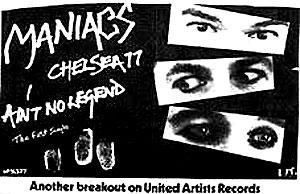 Maniacs シングル盤の広告