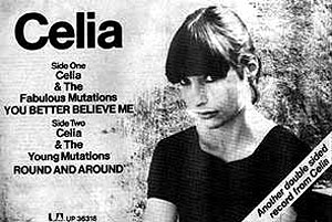 Celia シングル盤の広告