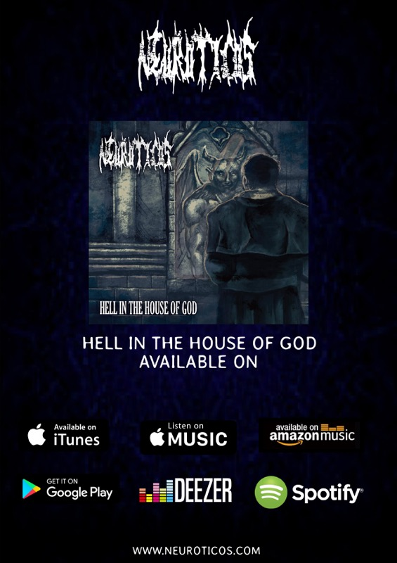 1stEP「HELL IN THE HOUSE OF GOD」はiTunes、amazonmusic等の配信でも発売中
