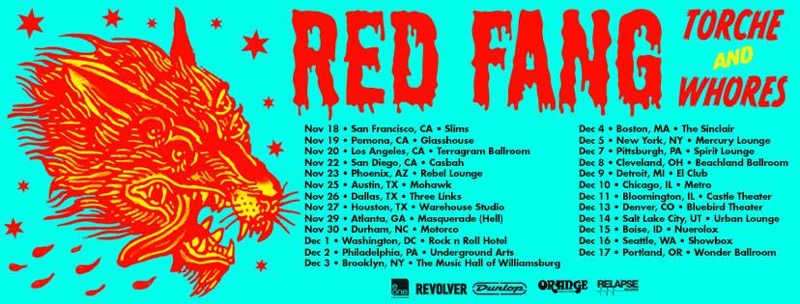 US Tour with RED FANG、WHORES