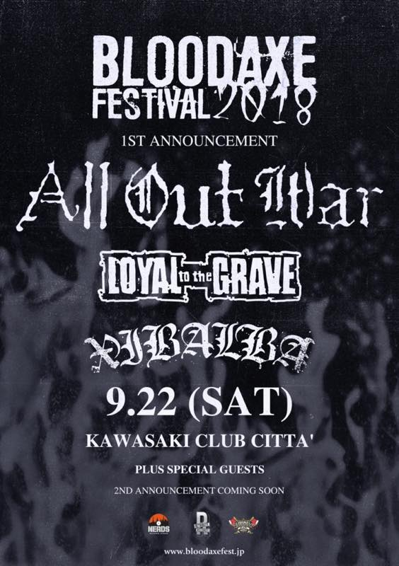 BLOOD AXE FESTIVAL 2018 /